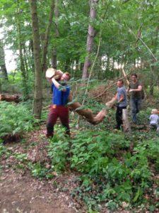 Supermänner im Einsatz für den Natur Kindergarten Kremmen